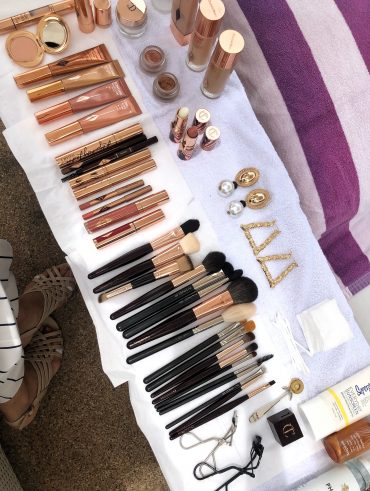 Behind the scenes - Beach Make-up Set up - International Make-up Artist Thailand - savourbytina